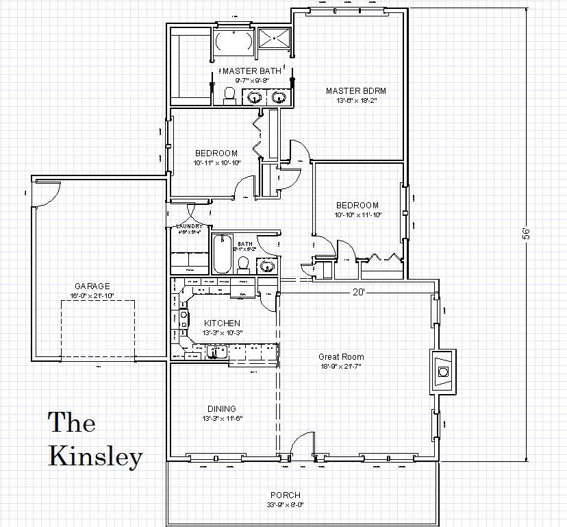 Kinsley - Floor Plan 1